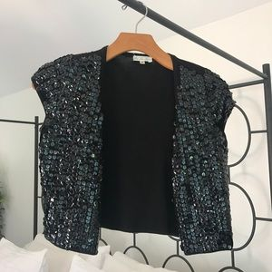 Sequined bolero jacket/vest from Lux